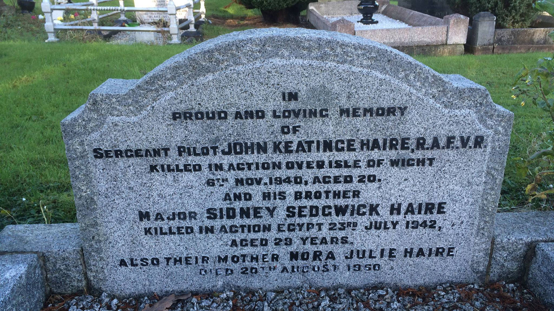 Grave of Sergeant John Keatinge Haire