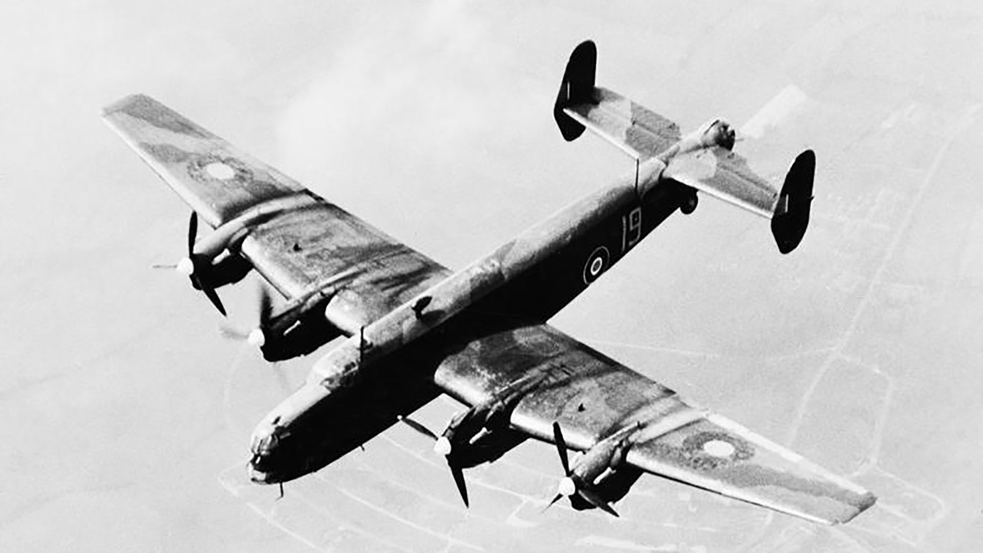 Halifax bomber of No. 1658 Heavy Conversion Unit