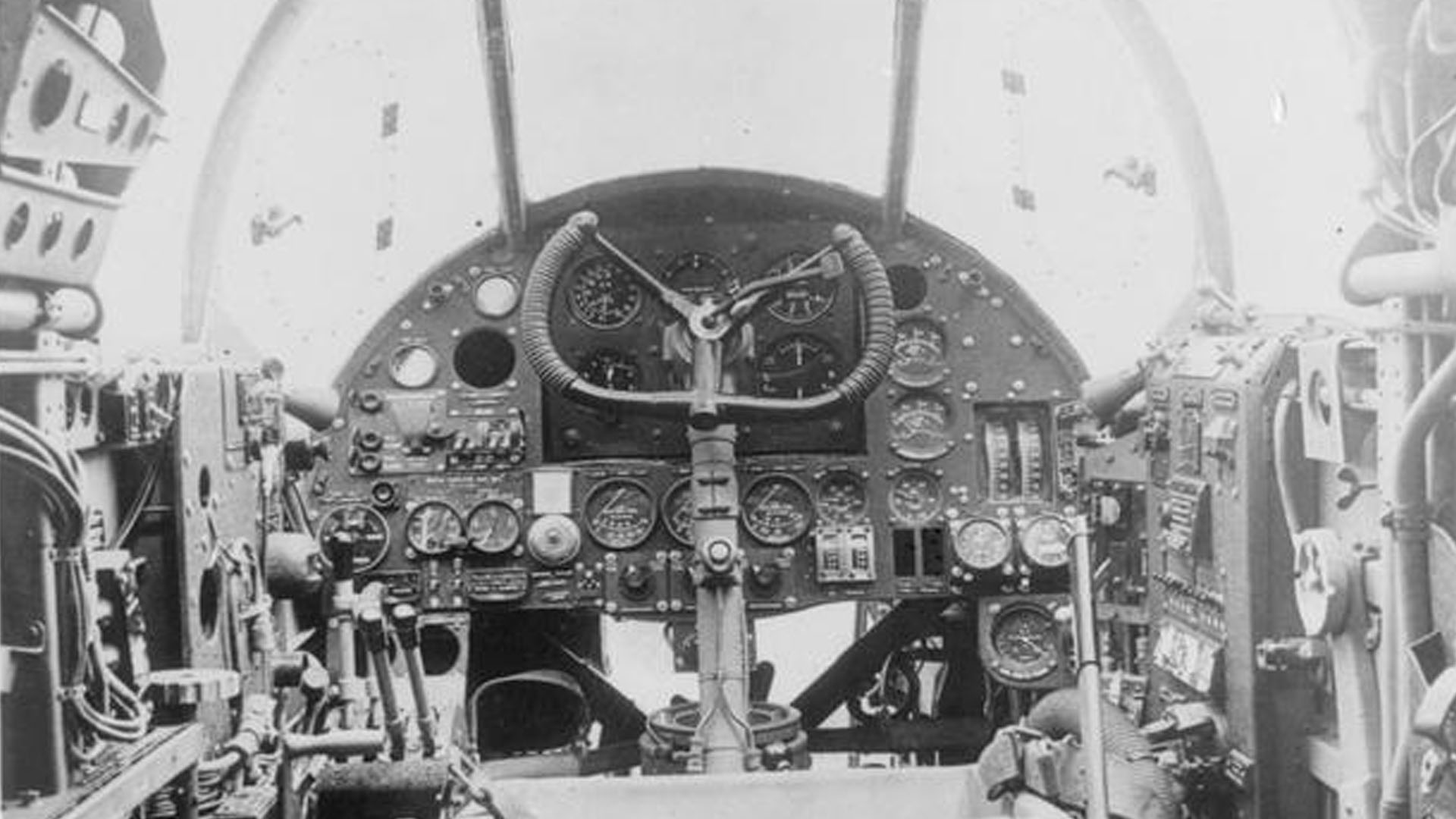 Cockpit of a Handley Page Hampden