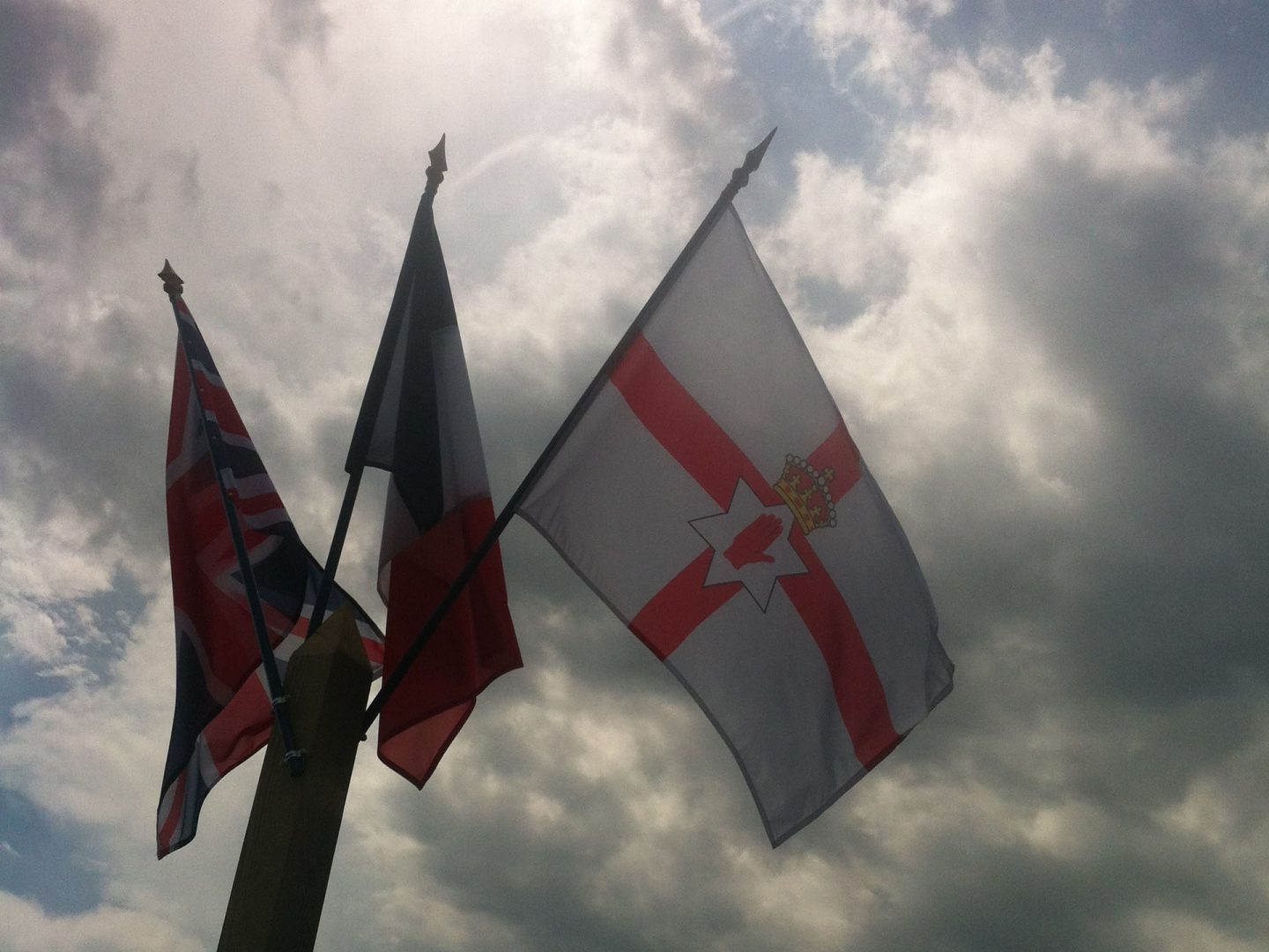 Ulster flag at Pegasus Bridge