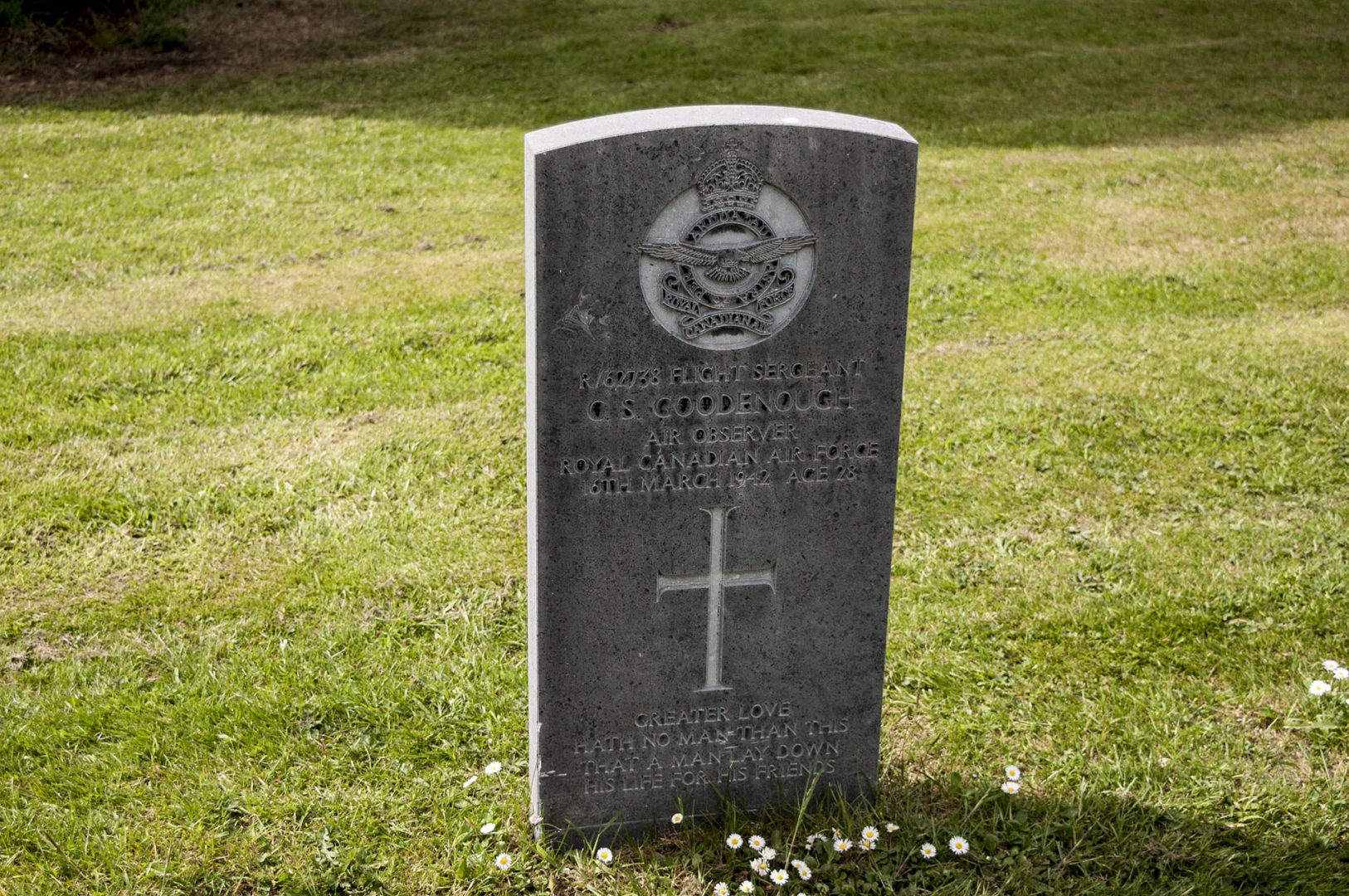 Grave of Flight Sergeant Goodenough