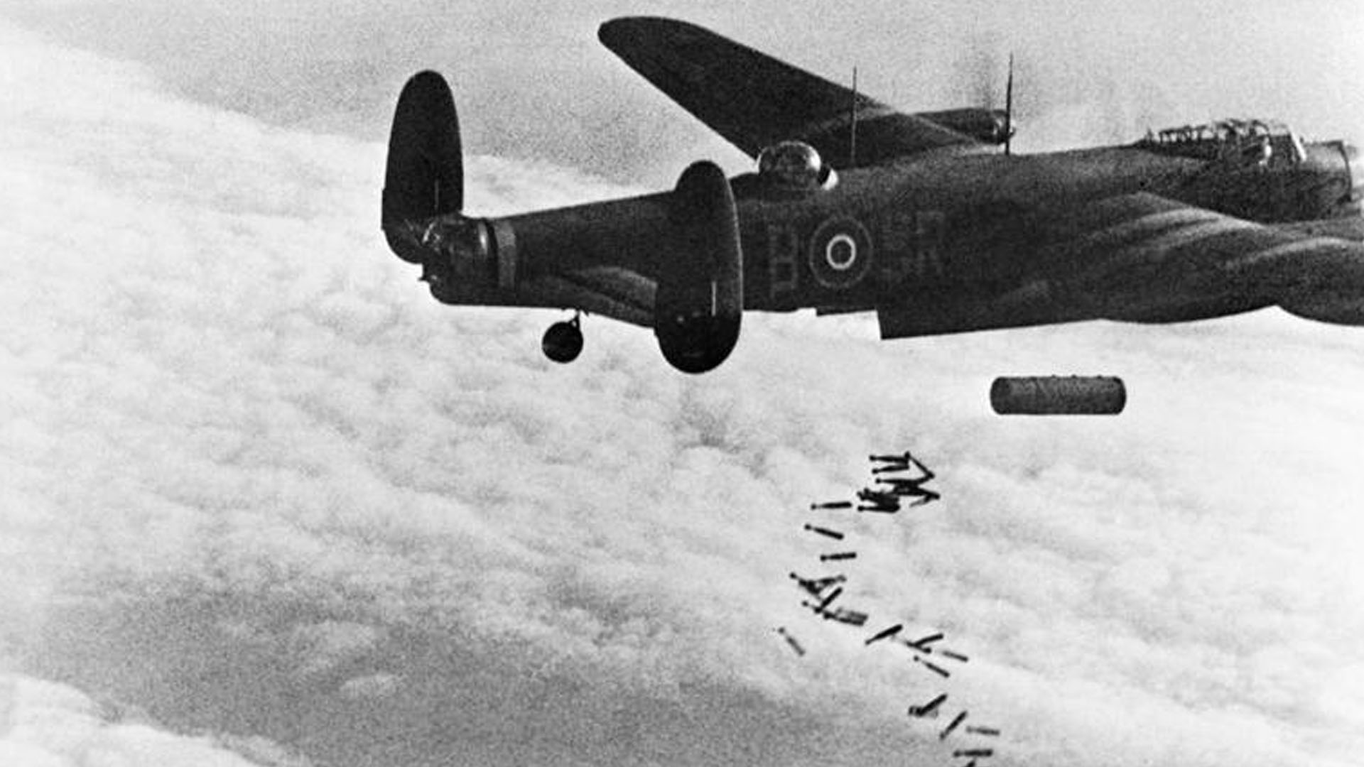 Lancaster Bomber from RAF 101 Squadron