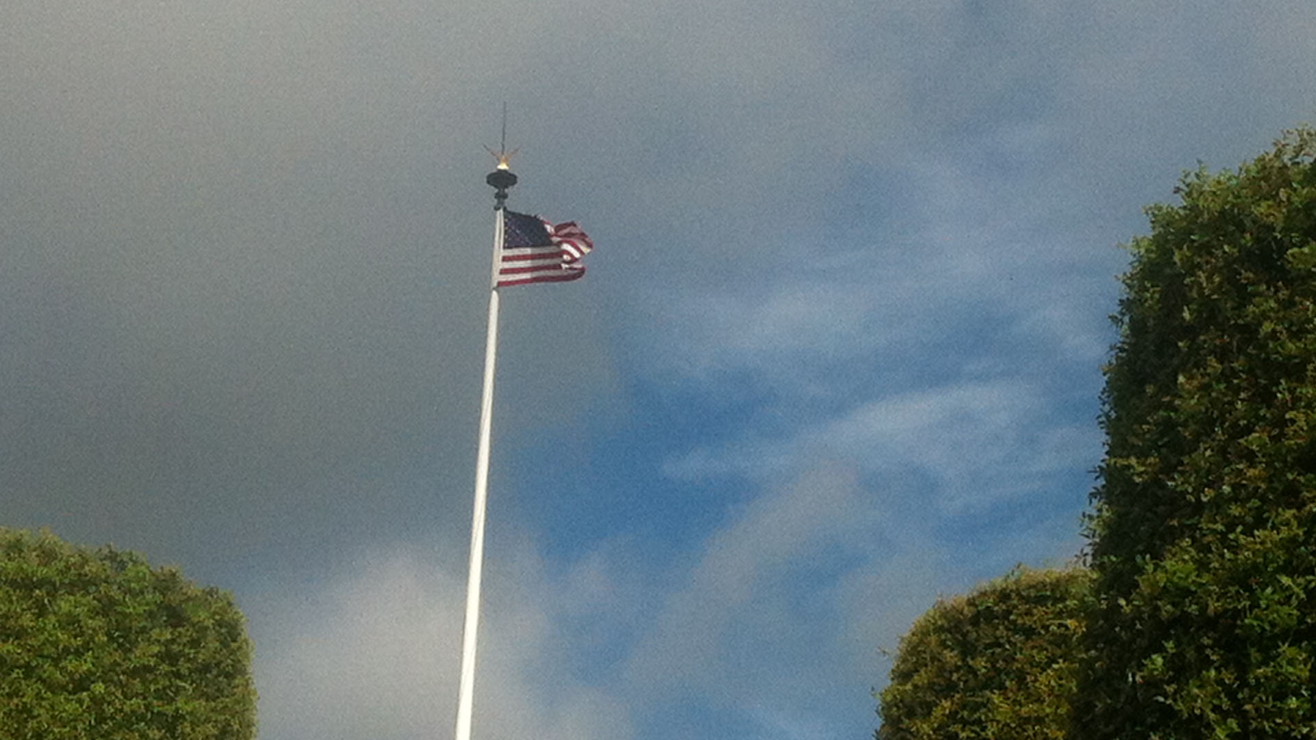American flag in Normandy