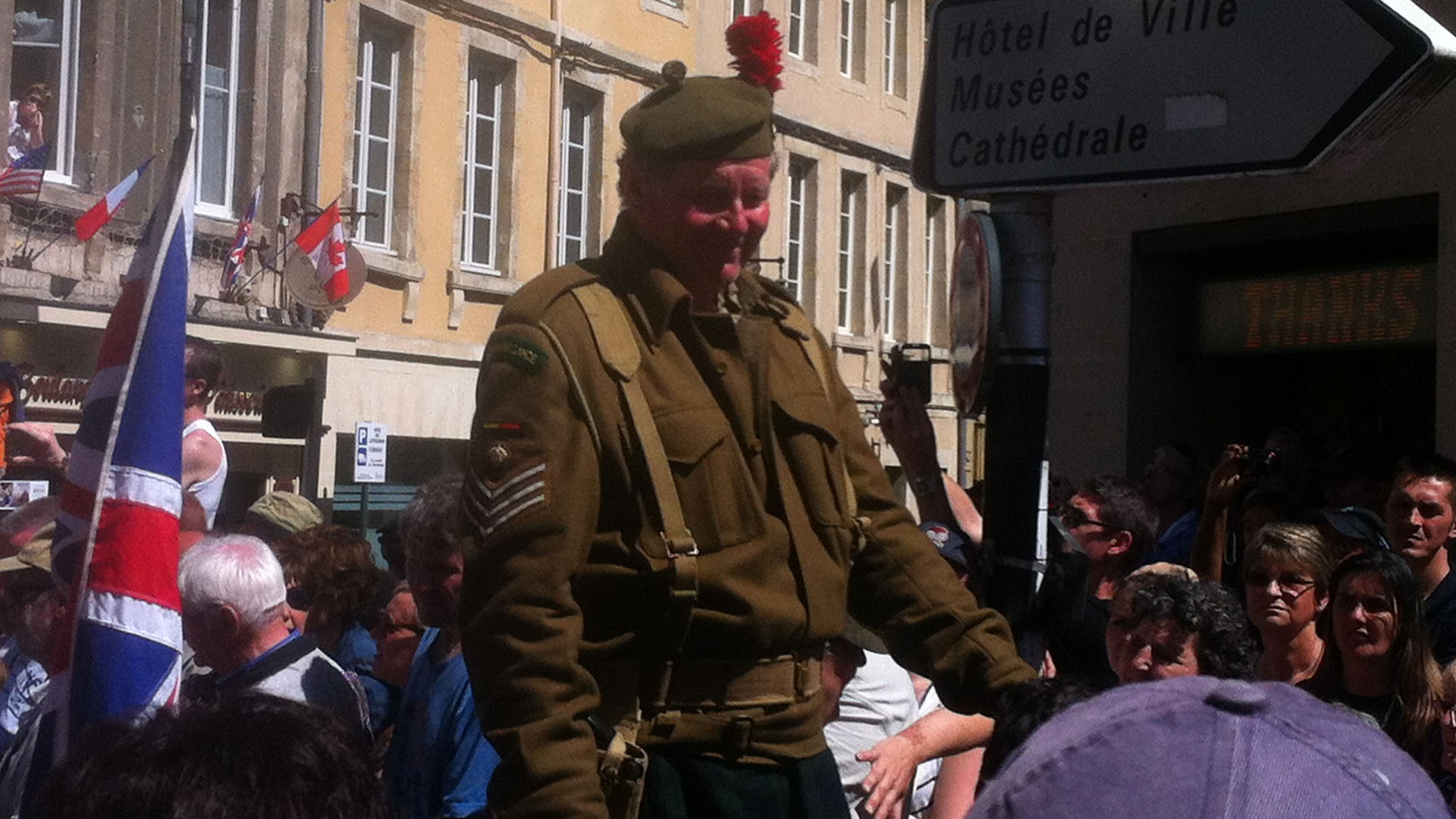 Historical re-enactors in Bayeux