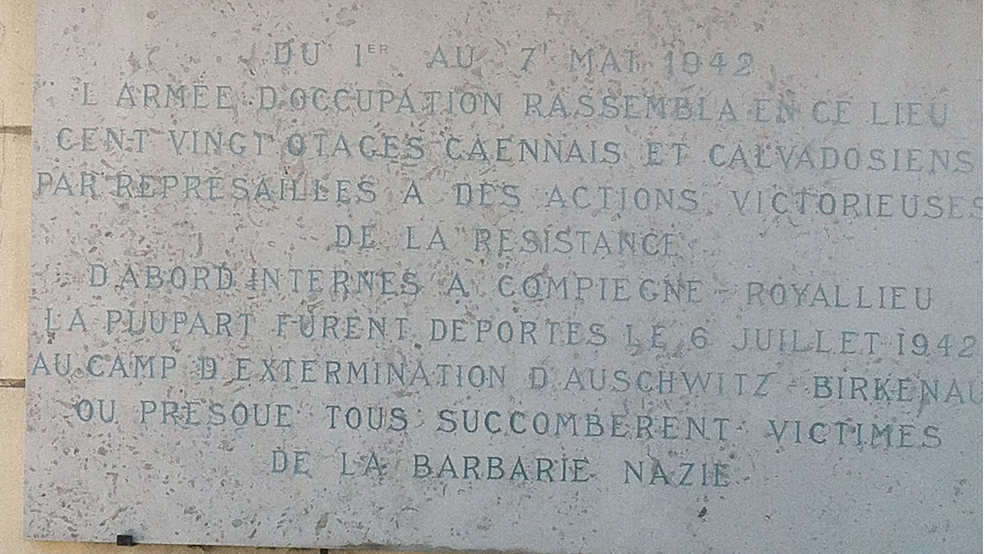 Memorial to the Resistance, Caen