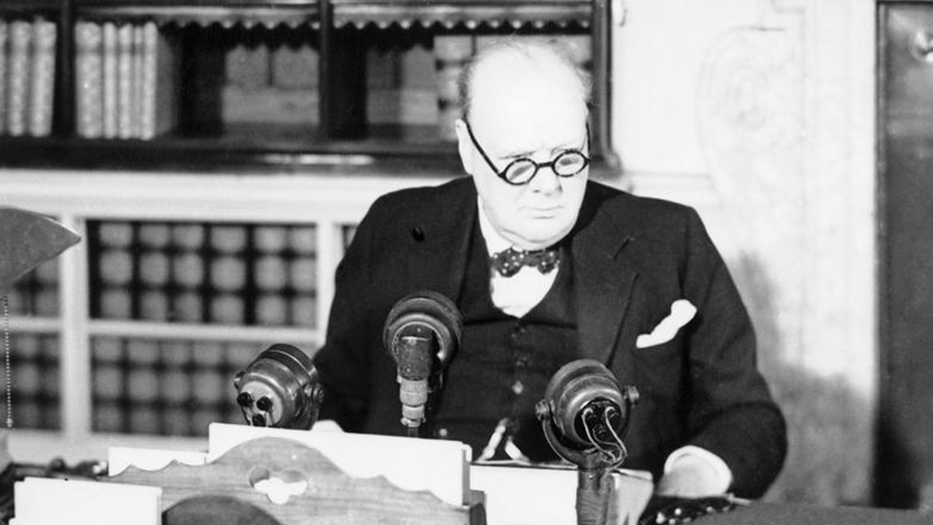 Churchill announces VE Day