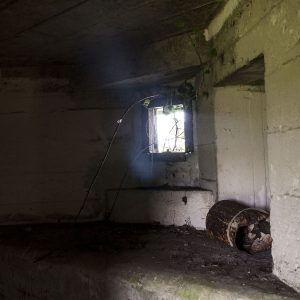 Inside the Moyallan Pillbox