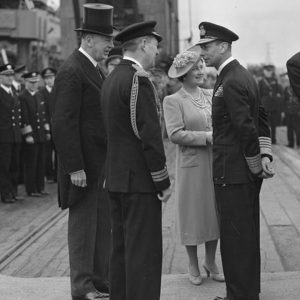 The King and Queen leaving Belfast
