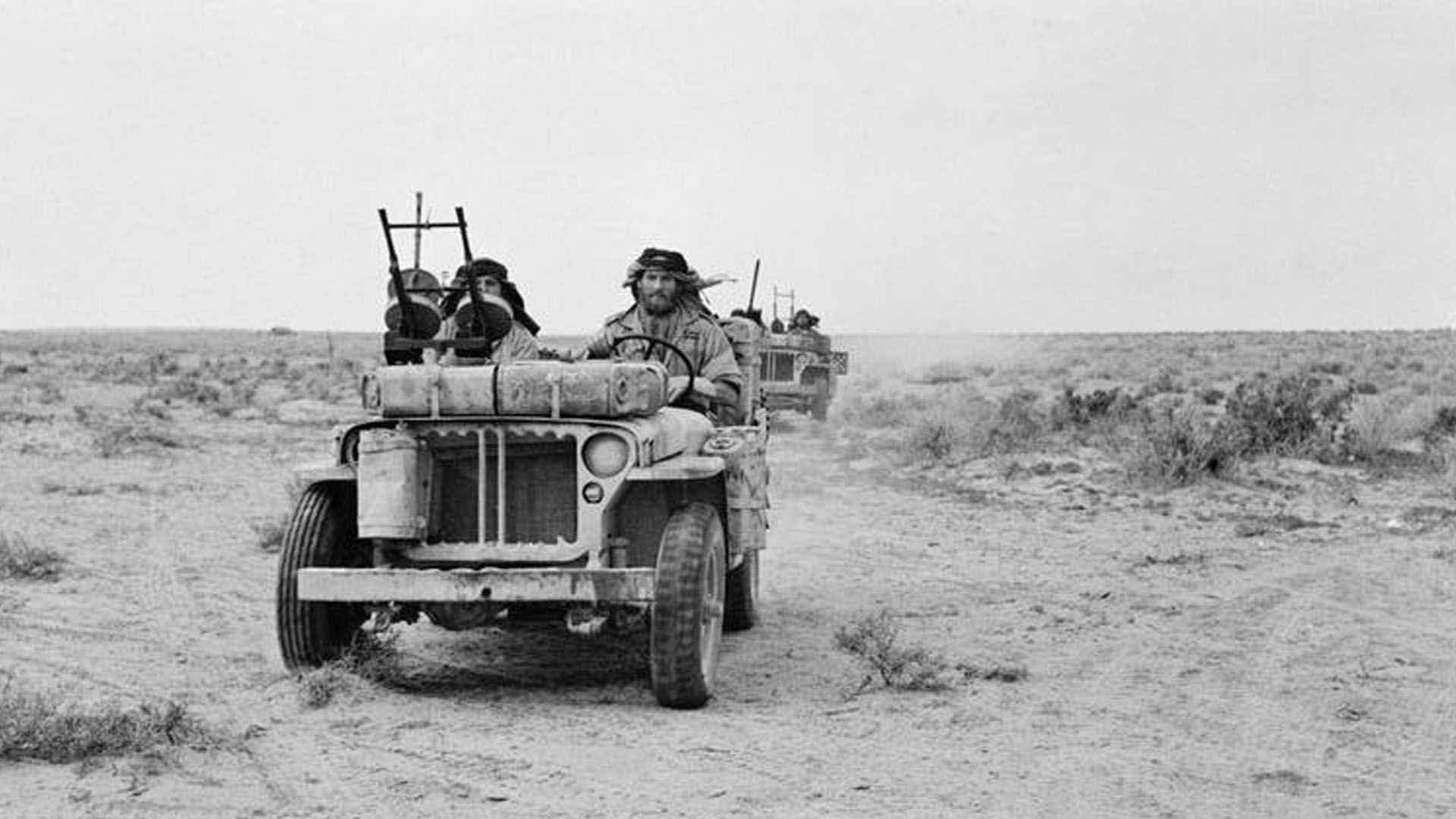 SAS Jeep in North Africa