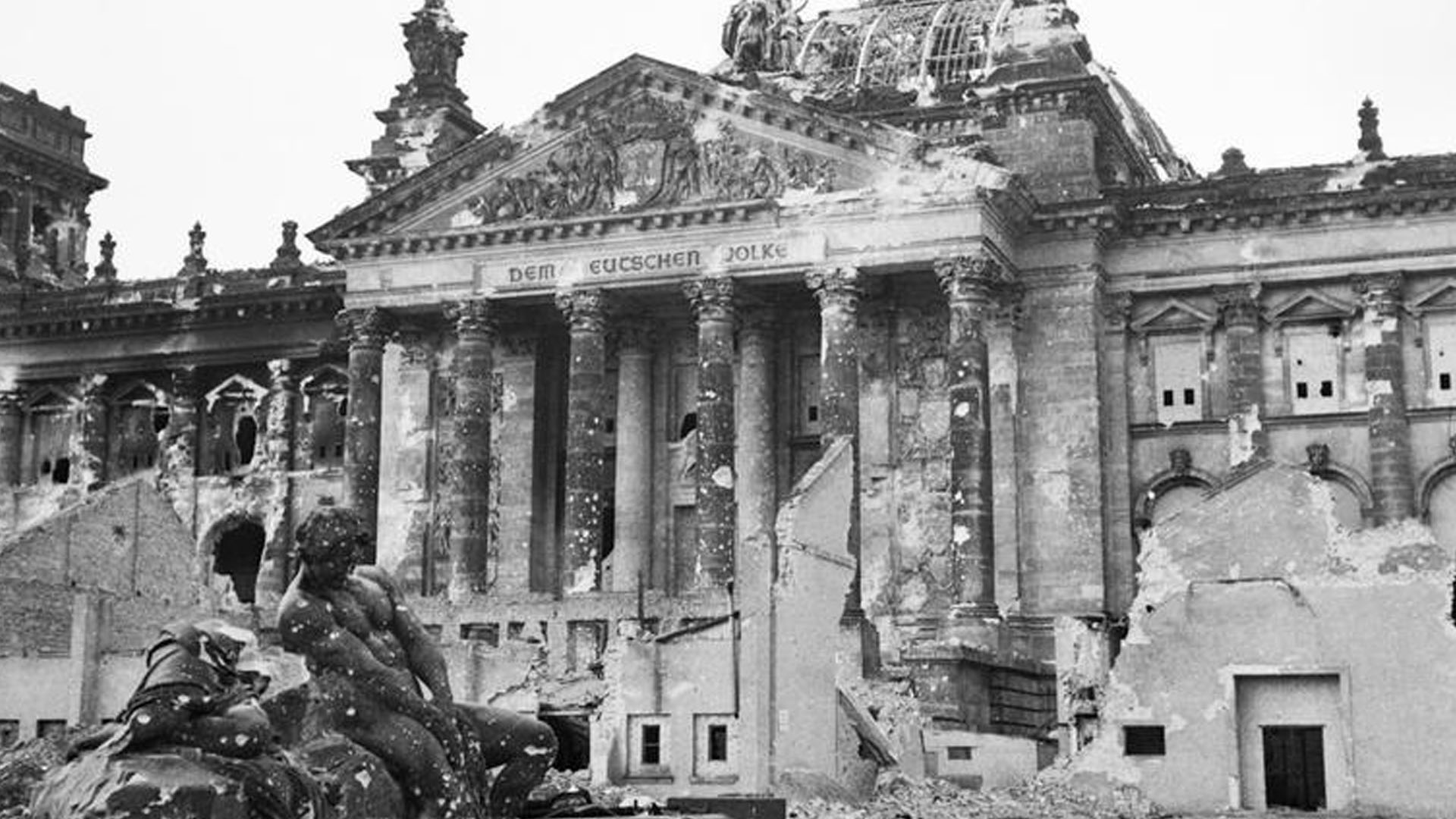 The Reichstag Building in Berlin 1945