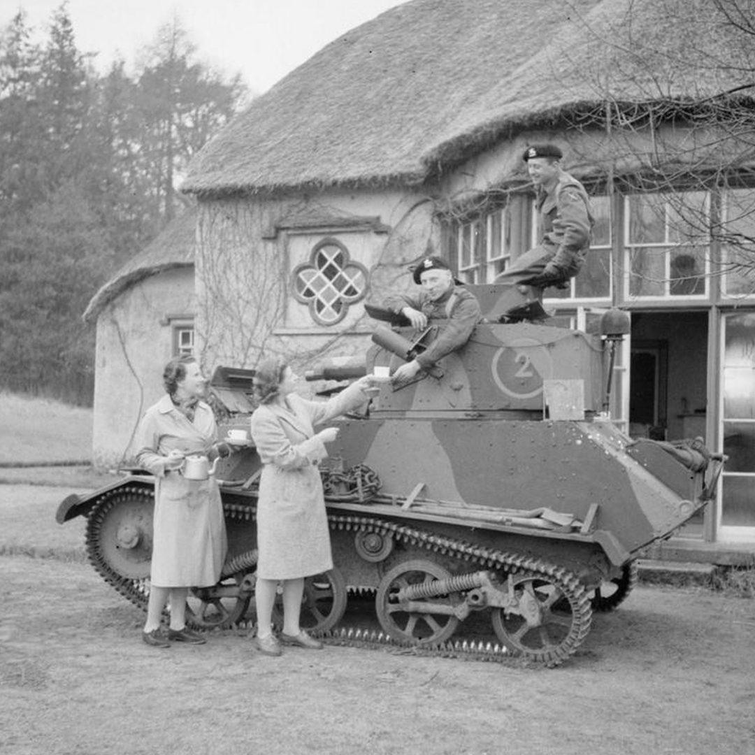 Soldiers at Derrymore House, Bessbrook