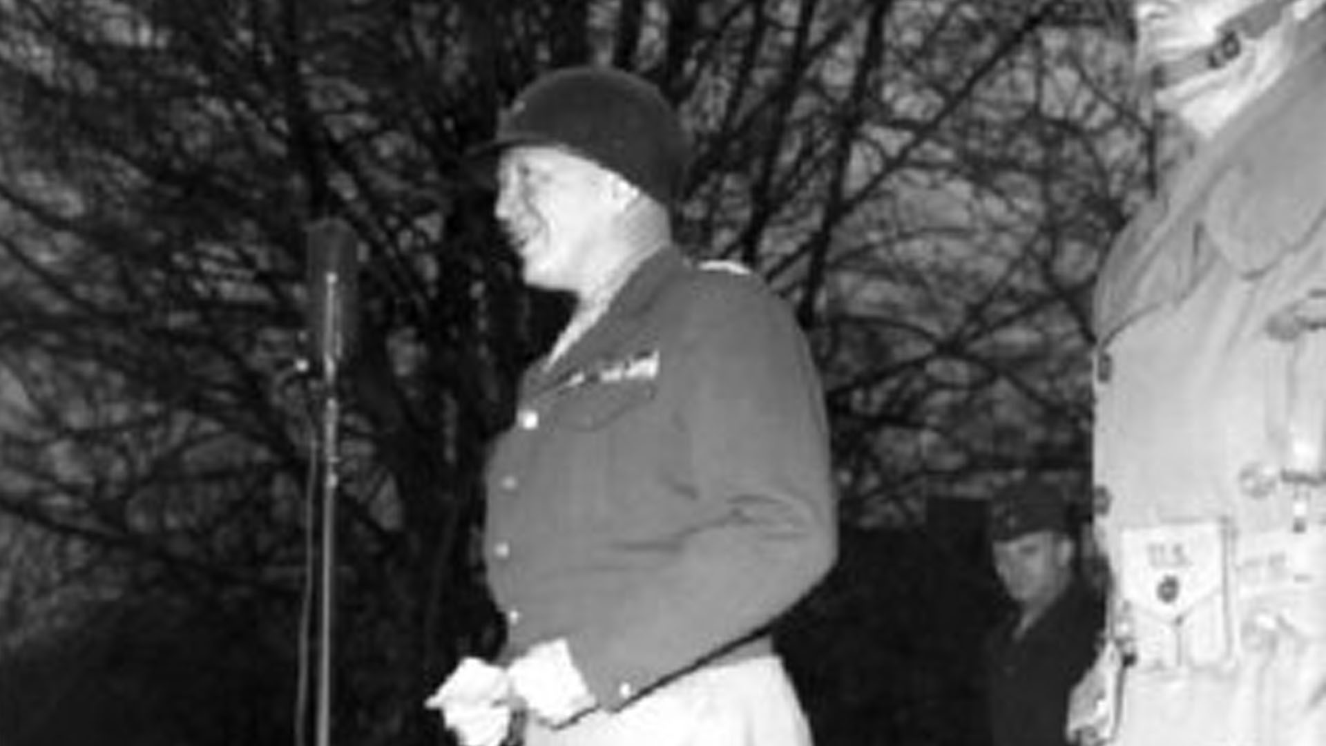 General Patton's speech on The Mall, Armagh, Co. Armagh