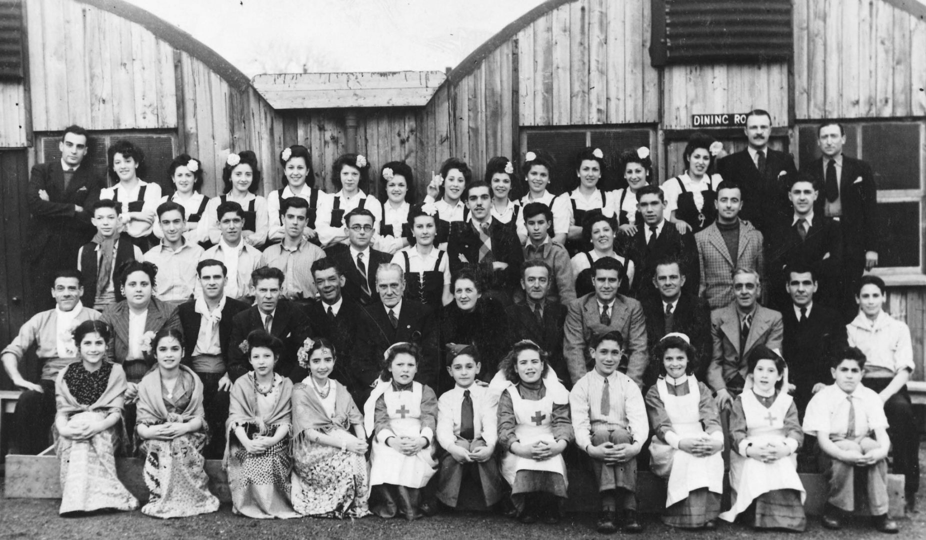 Young Gibraltar Evacuees at Cargagh Camp, Co. Down