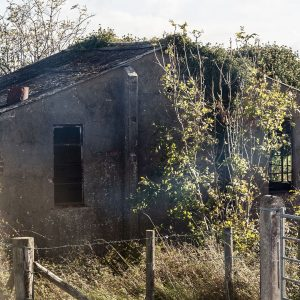 Disused building at Cluntoe Airfield, Co. Tyrone