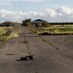 Runway at Cluntoe Airfield, Co. Tyrone