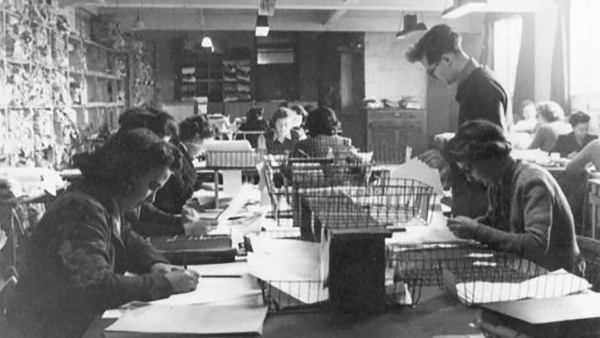 Women at work in Bletchley Park