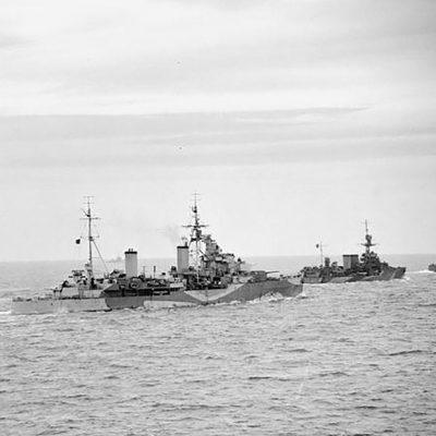 HMS Danae and cruisers bound for Normandy