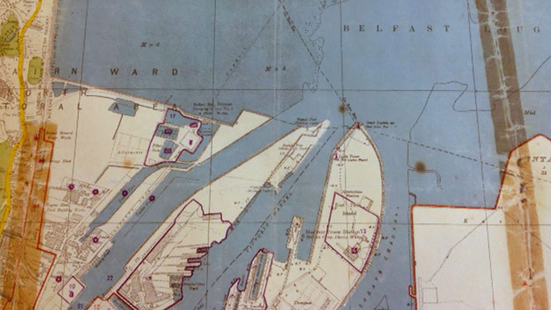 Luftwaffe map of Belfast, Co. Antrim