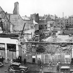 Donegall Place and Arthur Street after the Belfast Blitz