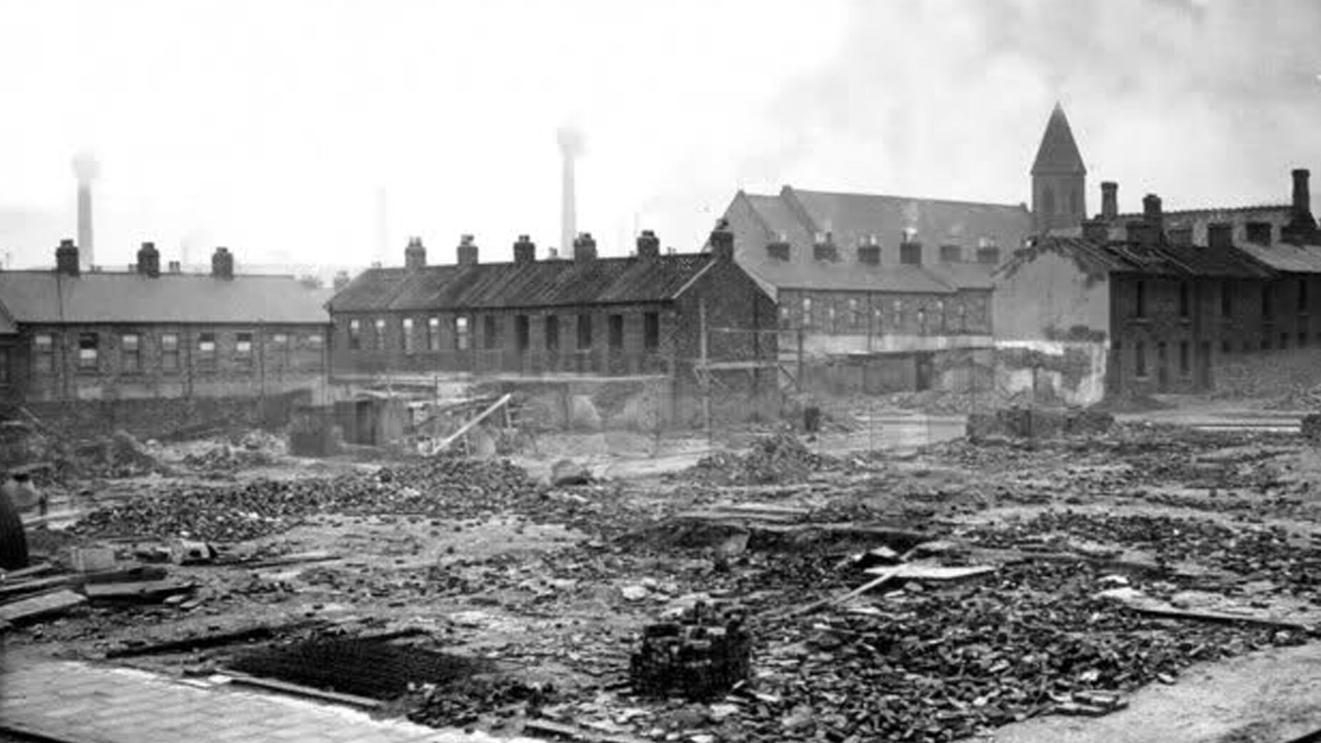 Percy Street after the Belfast Blitz