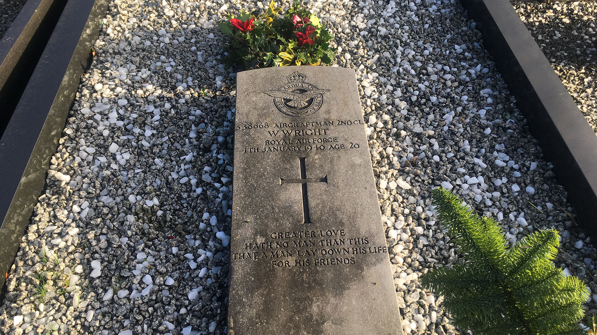 Grave of Aircraftman 2nd Class Wilfred Wright