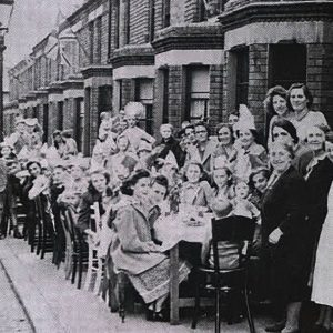 VE Day in Ogilvie Street, Belfast, Co. Antrim