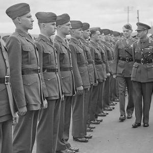 US Army Marines on parade in Larne, Co. Antrim