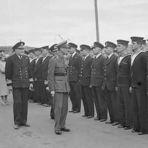 The King and the Royal Navy in Larne, Co. Antrim