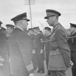 King George VI inspects the US Navy