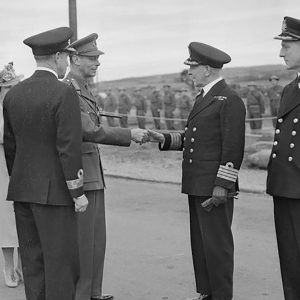 King George VI and the Royal Navy in Larne, Co. Antrim