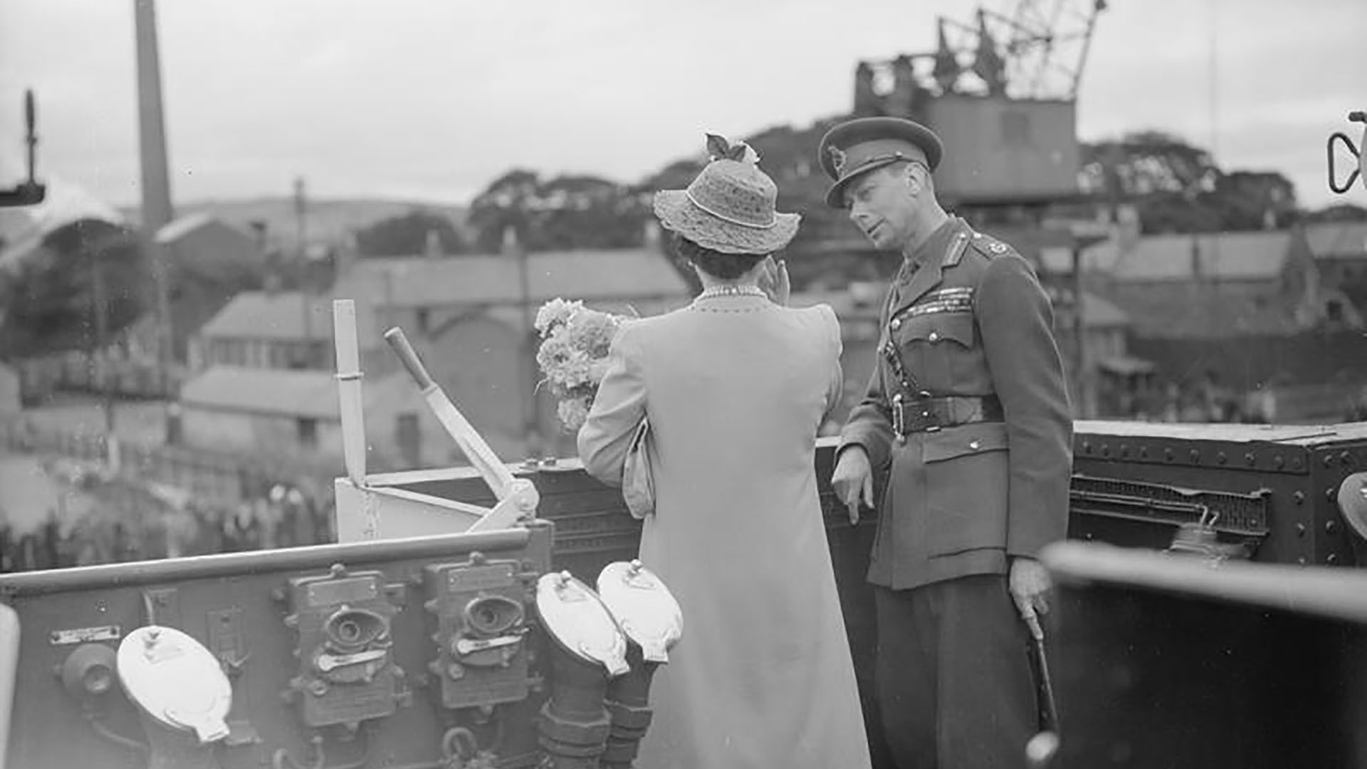 The King and Queen on board HMS Bicester