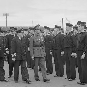 United States Navy inspection in Larne, Co. Antrim
