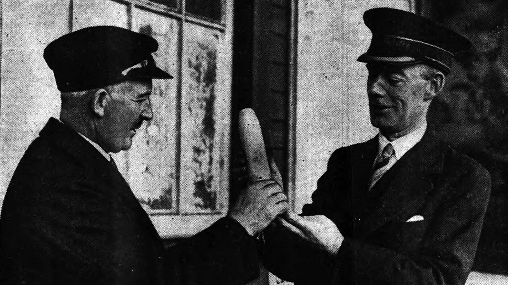 Railway Staff in Bangor, Co. Down with Luftwaffe Bomb