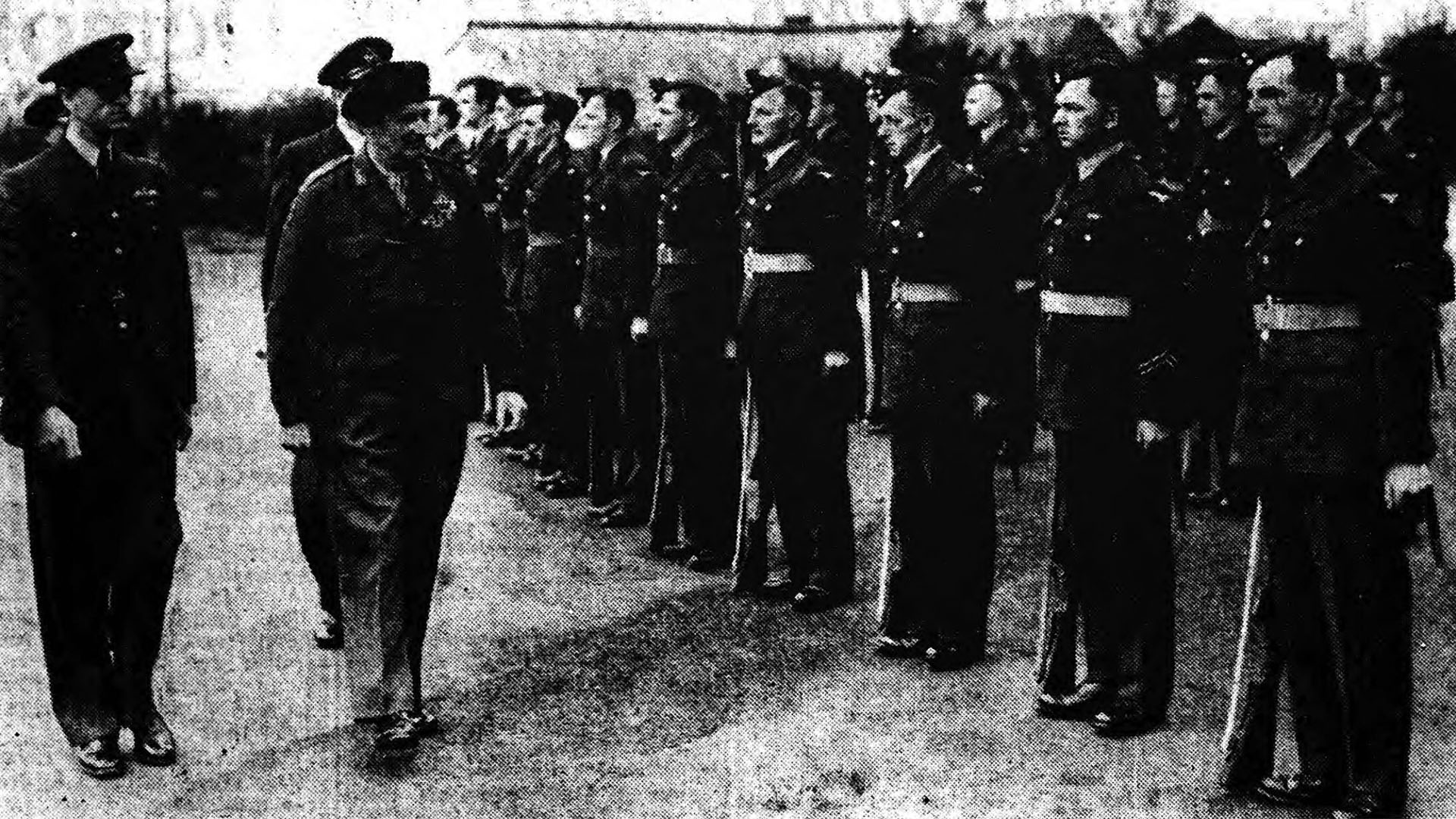 Field Marshal Montgomery at Long Kesh