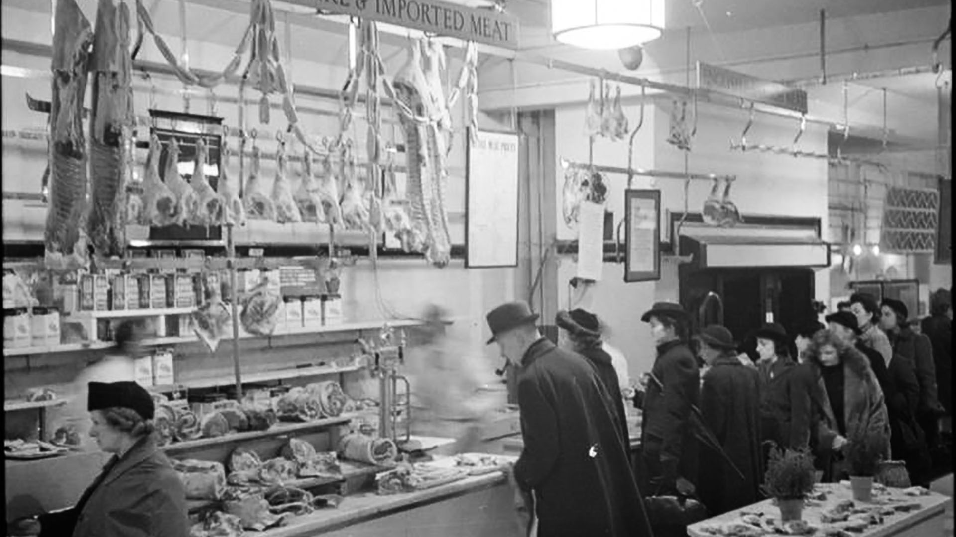 Buying meat in wartime