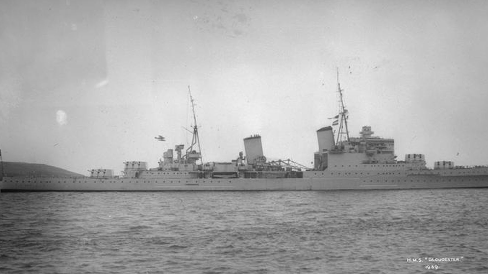 HMS Gloucester in Plymouth, 1939