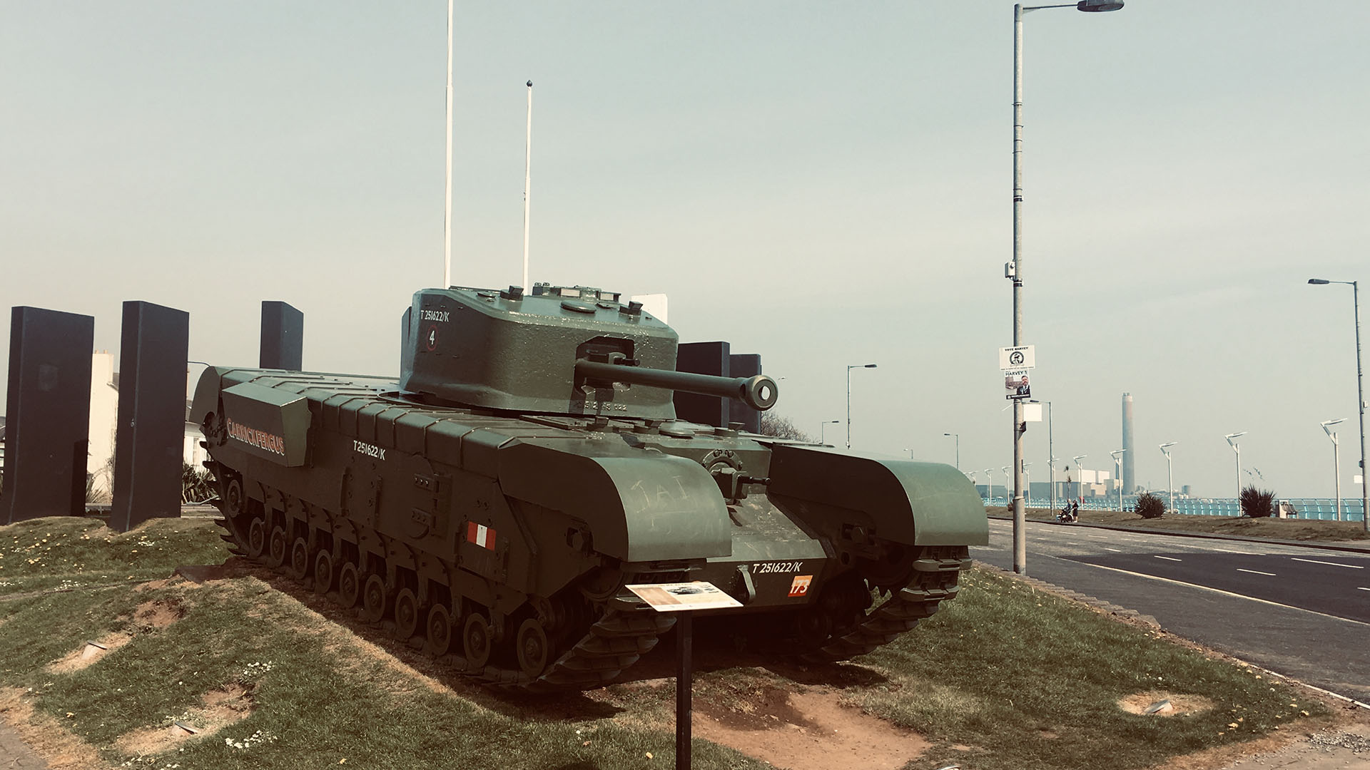 The Carrickfergus Churchill Tank