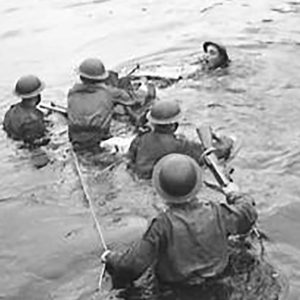 British Army training on the River Maine