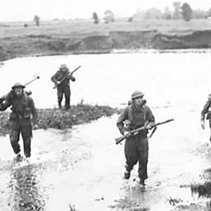 British Soldiers cross a Co. Antrim River