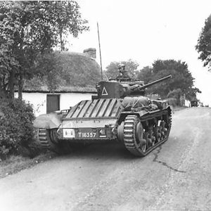 Valentine Tank and thatched cottage