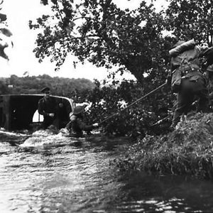 Royal Artillery lorry in difficulties near Gortin, Co. Tyrone