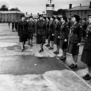 The Princess Royal inspects the A.T.S. in Holywood, Co. Down