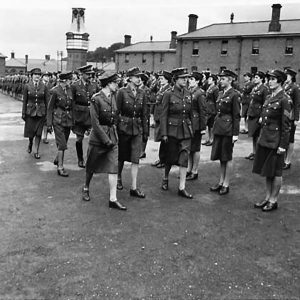 The Princess Royal inspects the A.T.S. in Ulster