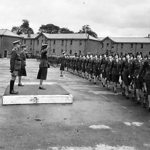 The Princess Royal inspects the A.T.S. in Northern Ireland