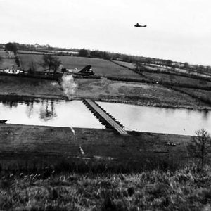 R.A.F. simulate bombing on the River Bann