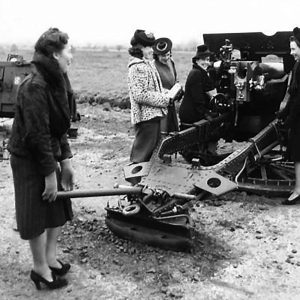 Munitions workers fire guns at a camp in Northern Ireland