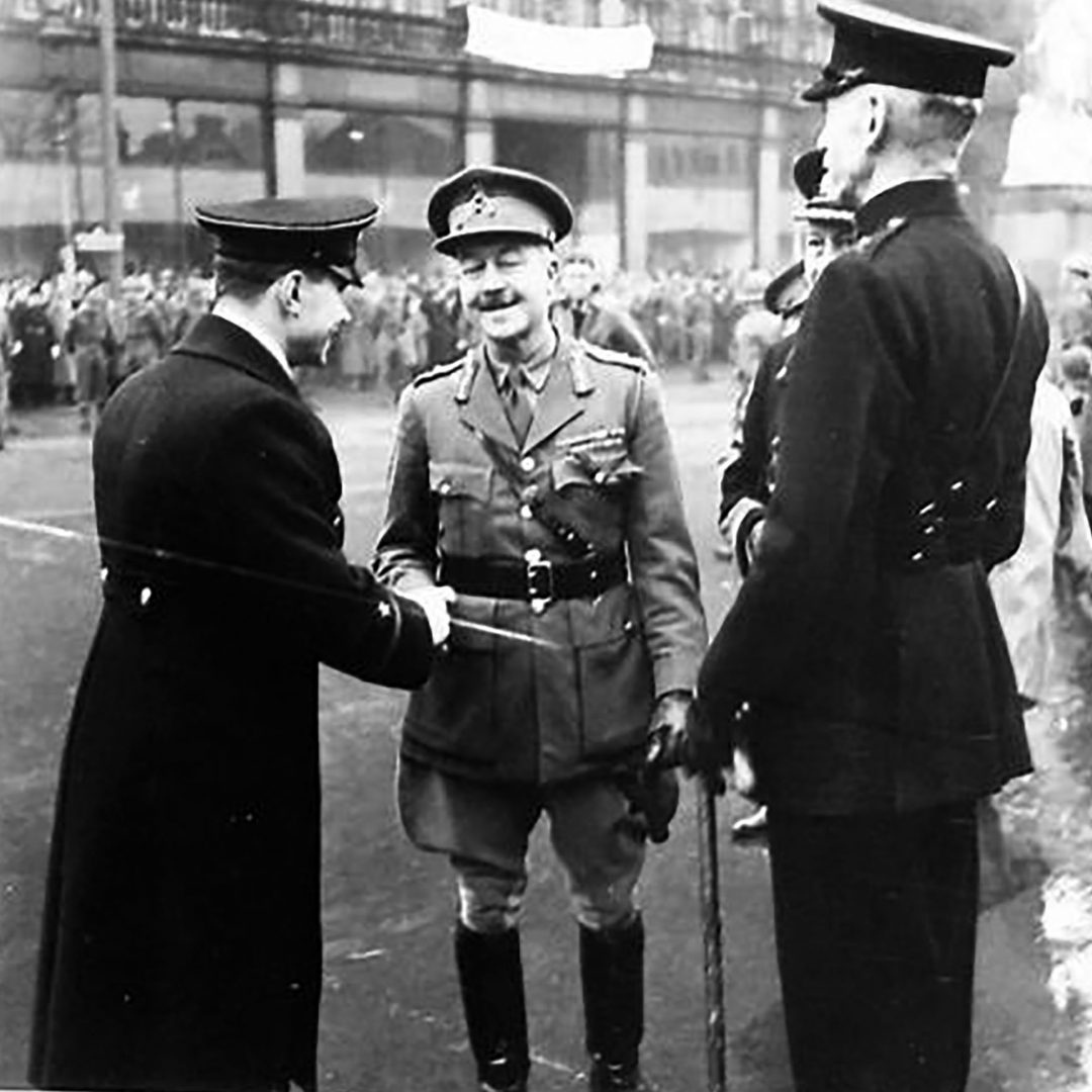 Military Officers in Belfast on Red Army Day